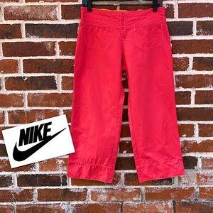 Nike small pink and orange Capri pants